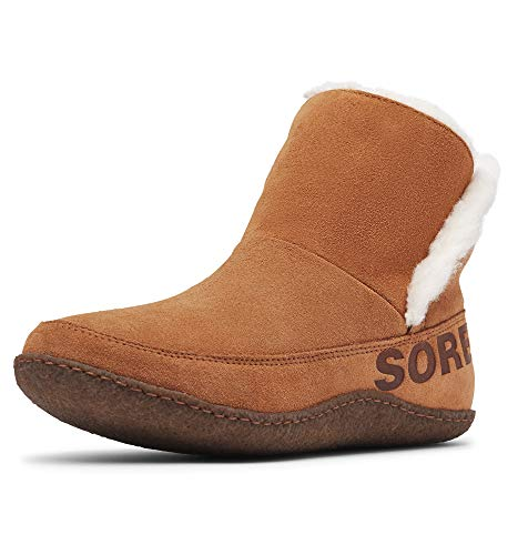 Sorel Women's Nakiska Bootie Slippers, Camel Brown, 8.5 Medium US