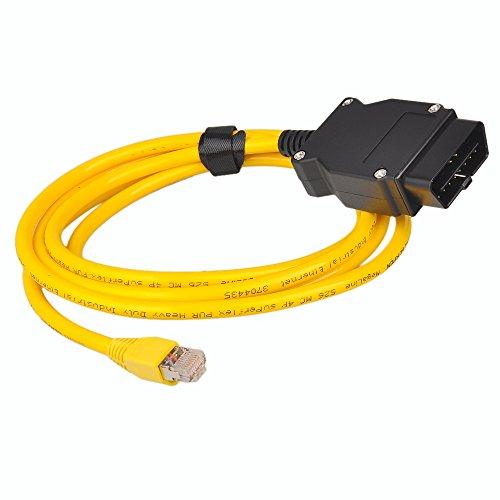 Neu 2M Ethernet zu OBD Interface Kabel E-SYS ICOM Coding F-series für BMW ENET Gelb Schwarz