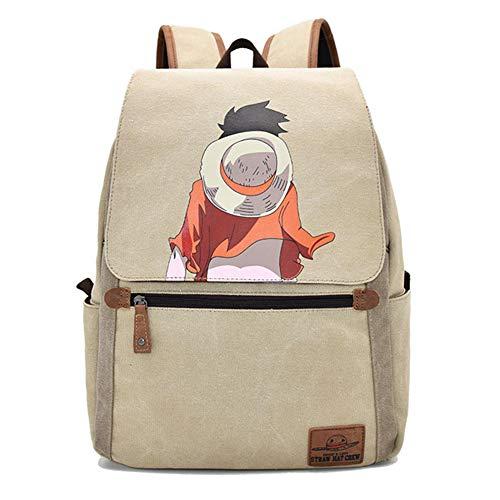 Broadmix Japanese Anime School Backpack - Naruto Bookbag One Piece Shoulders Bag Dragon Balls Rucksack Daypack