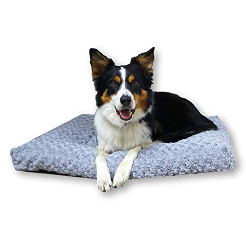 E-dogbed Exklusives weiches und kuscheliges Hundebett Largo Hundesofa Hundekissen Hundematratze Hundeliege Transportbox Transportkäfig Tierkissen Größe wählbar von S bis XL (L-100x70)