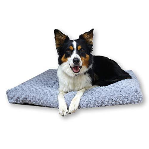 E-dogbed Exklusives weiches und kuscheliges Hundebett Largo Hundesofa Hundekissen Hundematratze Hundeliege Transportbox Transportkäfig Tierkissen Größe wählbar von S bis XL (XL-120x75)