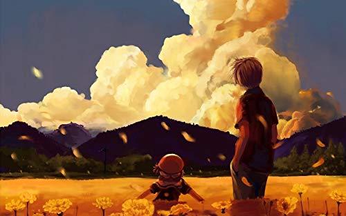 Puzzel 1000 stukjes Educatief intellectueel decomprimerend leuk spel voor kinderen Volwassenen speelgoed De hemel donkere wolken van de bloemaard