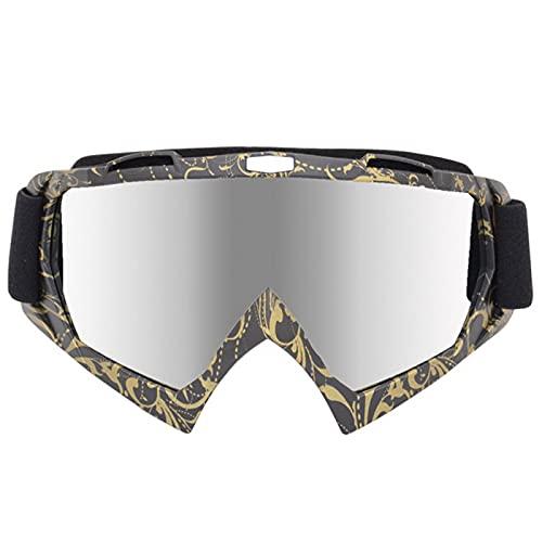 Occhiali da motocicletta, moto da cross, motocross, sci, vento, protezione UV, anti-graffio, antipolvere, per uomini, donne, adulti e giovani