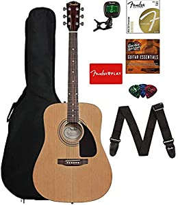 This the Fender FA-115 Bundle with Tuner, Strings, Strap, Picks