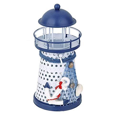 Faro, candelabro de metal hecho a mano, para decoración del hogar, decoración náutica