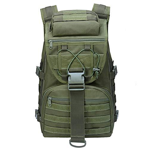 Military Backpack LHI Hiking Travel Backpack for Men Women Boys Girls, Army Nylon Pack 35L Outdoor Sport Rucksack - Green