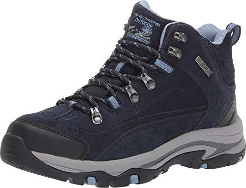 Skechers womens Hiker Hiking Boot, Navy/Grey, 8.5 US