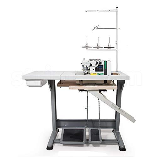 Máquina de coser industrial ZOJE Overlock – 1 aguja / 3 hilos – Máquina de coser industrial – Completo (con mesa y soporte)