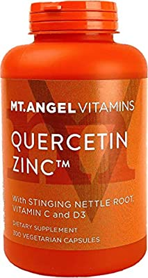 Quercetin Zinc Immune Support Supplement – with Vitamins C & D3, Stinging Nettle Root, Bromelain – Immune Boost to Fight Flare-Ups, Improve Respiratory Health & Energy by Mt. Angel Vitamins, 300-Ct.