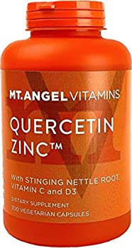 Quercetin Zinc Immune Support Supplement – with Vitamins C & D3 Stinging Nettle Root Bromelain – Immune Boost to Fight Flare-Ups Improve Respiratory Health & Energy by Mt Angel Vitamins 300-Ct.