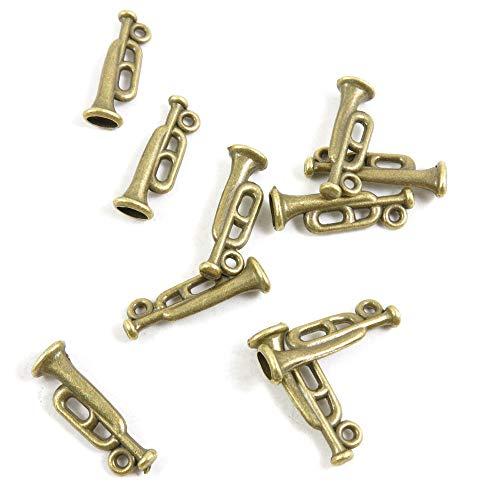 Antieke Bronzen Toon Sieraden Charms Q6YK7G Trompet Craft Art maken Crafting Kralen Antiek brons