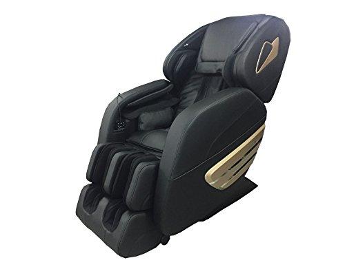 Rokol 7906C - Sillón de masaje profesional, negro, masaje corporal en 2D, tecnología Gravedad Zero, la posición más relajada