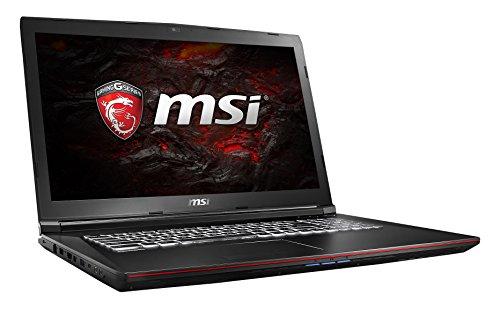 MSI GP72VR 7RF-268DE Leopard Pro (43,9 cm/17,3 Zoll) Gaming-Laptop (Intel Core i7-7700HQ 16GB RAM, 1 TB HDD + 256 GB SSD, Nvidia GeForce GTX 1060, Windows 10 Home) schwarz GP72