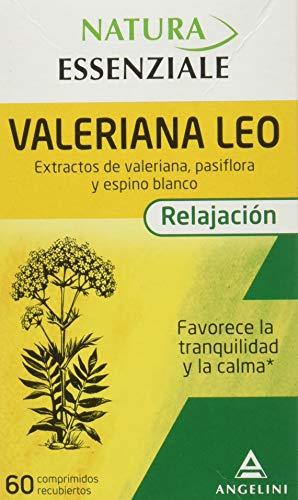 NATURA ESSENZIALE Valeriana Leo - 60 comprimidos - Favorece la tranquilidad y la calma - Complemento alimenticio con extractos de valeriana, pasiflora y espino blanco. A partir de 12 años.