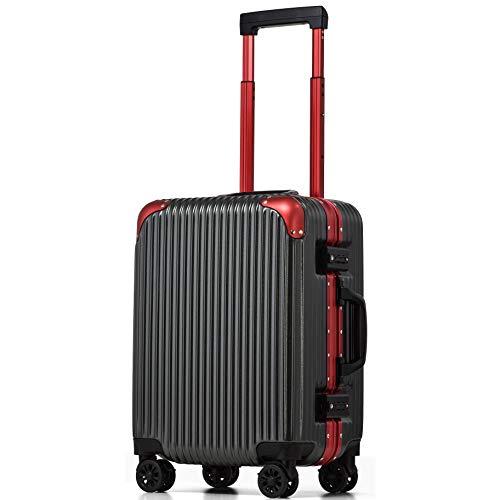 [PROEVO/プロエボ][アウトレット] スーツケース フレームキャリー Sサイズ 機内持込 機内持ち込み 静音 ダブルキャスター 8輪 軽量 アルミフレーム TSAロック キャリーケース キャリーバッグ サスペンション ストッパー 10040 ([アウ