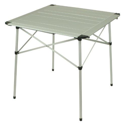10T AluTab campingtafel 70x70cm mobiele 2-4 man aluminium tafel waterdichte roll-up tuintafel