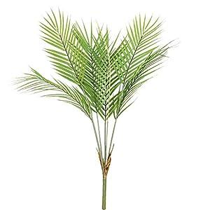 Aisamco Planta Artificial de Hoja de Palmera Tropical en Verde, 1 Planta de plástico de Palmera de Areca, 6 Hojas, 35…
