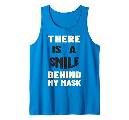 A Smile Behind My Mask Lachendes Gesicht Maske Lächeln Tank Top