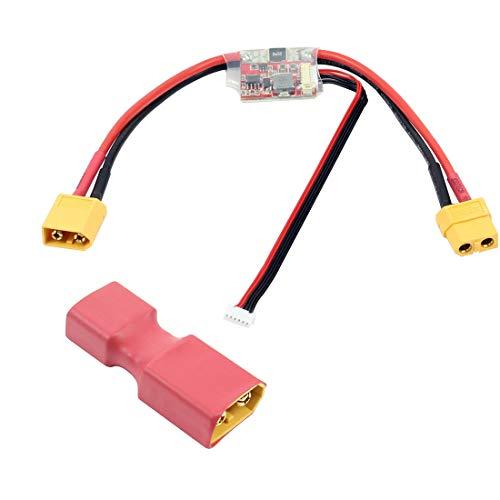 JMT APM2.6 2.5 2.52 módulo de corriente APM con conector de 5.3 V DC BEC T para APM 2.8 PIX PIXHAWK RC DIY Copter Accesorio (con adaptador T hembra)