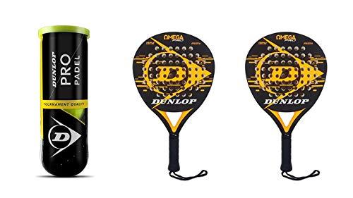 Dunlop Padel Schläger Set Omega Orange Pro & 3 Pro Bälle