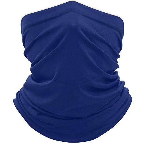 Scyrus Neck Gaiter Face Mask Bandana, Outdoor Protection, Women Men [Navy Blue]