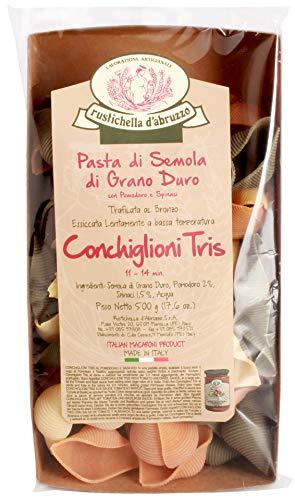 Rustichella Conchiglioni tris (dreifarbig), 500g