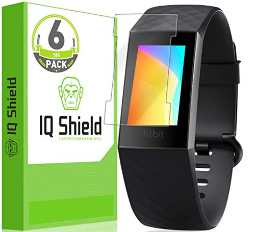 IQ Shield Full Body Skin Compatible with Fitbit Charge 3 (3-Pack) + LiQuidSkin Clear (Full Coverage) Screen Protector HD and Anti-Bubble Film