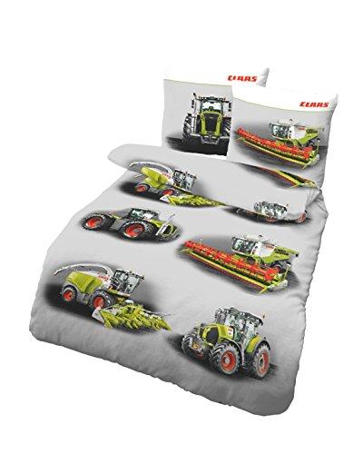 CLAAS Sommer Bettwäsche-Set von Dobnig   Qualitätsbettbezug aus 100% Baumwolle, Deckenbezug 135x200 cm, Kissenbezug-80x80 Bettbezug   CLAAS Landmaschinen
