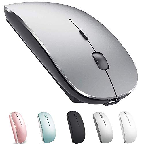 Rechargeable Bluetooth Mouse for Mac Laptop Wireless Bluetooth Mouse for MacBook Pro MacBook Air Chromebook MacBook iPad (Bluetooth Sliver Black)