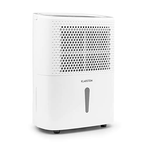 KLARSTEIN DryFy 10 - Luftentfeuchter, Raumentfeuchter, 240 Watt, 10 L/24h, für 15-20 m² (bis 50 m³) Raumgröße, Silent-Modus, leise, weiß