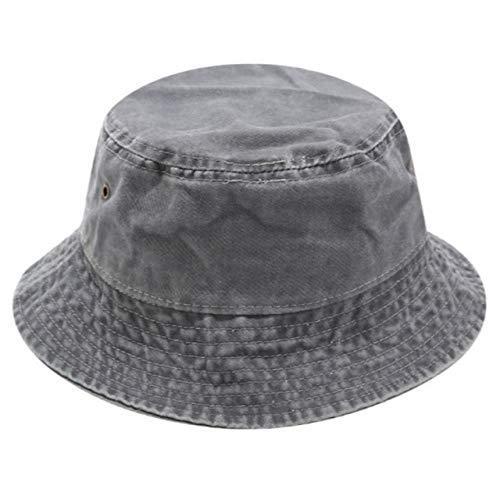 N/A Gorro Pescador Denim Bucket Hat Hip Hop Solid Wide Brim Cotton Fisherman Sun Hat Blank Men Hat Outdoor Beach Fishing Cap