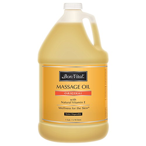 Bon Vital' Original Massage Oil for a Versatile Massage Foundation to Relax Sore Muscles and Repair Dry Skin, Most Requested, Best Massage Oil on Market, Unbeatable Consistency and Quality, 1 Gallon Bottle