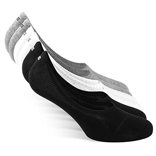 Snocks Calzini Uomo Corti Neri 6 Paia Calzini Fantasmini Uomo Cotone Bianchi Taglia 43-46 Calza Sneaker Calze Uomo Corte Fantasmini Uomo Sport