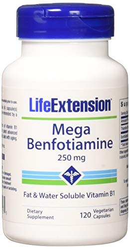Life Extension Mega Benfotiamine 250 mg, 120 vegetarian capsules ( Multi-Pack)