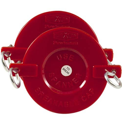 """2 1/2"""" Plastic Breakable Fire Department Connection (FDC) Cap for Sprinkler and Standpipe Connections (2 Pack)"""