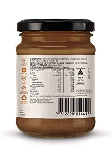 【添加物や保存料は無添加!罪悪感なしで食べて頂けるチョコレートスプレッド】メルローズチョコレートヘーゼルナッツバター