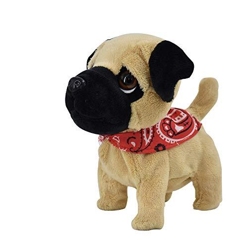 WEofferwhatYOUwant Carlino Pug Puppy | Cucciolo Giocattolo Interattivo di Peluche | Bambini Mesi 18+ Fino 7 Anni