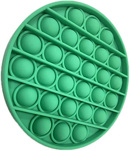 Push pop pop Bubble Sensory Fidget Toy,Autism Special Needs Stress Reliever Silicone Stress Reliever Toy,Squeeze Sensory Toy (Green)