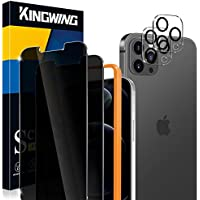 2-Pack KINGWING Tempered Glass Screen Protector & 2-Pack Camera Lens Protector for 6.7