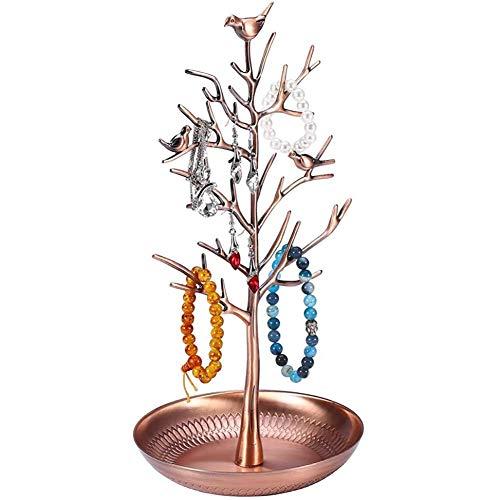 Collares para mejores amigos, soporte de exhibición de joyería, soporte de metal para pendientes, organizador de collar, soporte de joyería, soporte de exhibición de adorno, soporte de árbol p