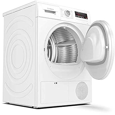Bosch WTN83201GB Serie 4, Freestanding Condenser Tumble Dryer with AutoDry, Sensitive Drying System, Quick 40' drying, 8kg load, White