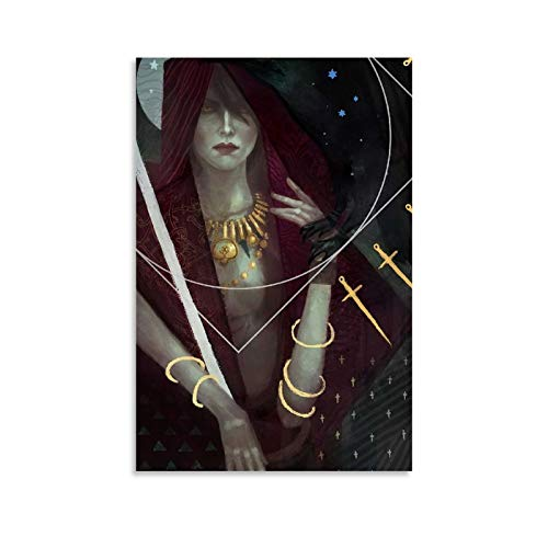 Dragon Age Morrigan Tarot Card Canvas Art Poster and Wall Art Picture Print Modern Family Bedroom Decor Posters 16x24inch(40x60cm)