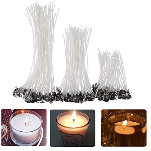Kerzendocht, 150 Stück Flachdocht Kerzen Dochte Runddocht Teelichtdochte in 3 Verschiedenen Größen, Candle Wick für Kerzenherstellung Kerze DIY