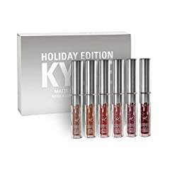 Ky-lie liquid matte lipstick full collection Contains moisturizing ingredients, which is moisturizing and dilutes the lip lines 6 shades the extremely long wearing lipstick contains moisturizing ingredients for a comfortable and emollient No marks le...