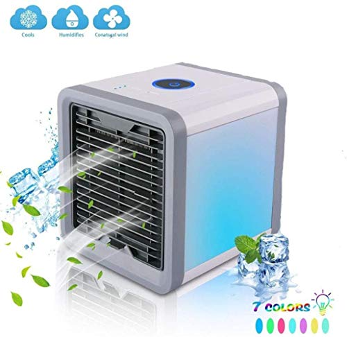 Grill HZY Tragbare Klimaanlage Ventilator Mini Verdampfer Luftkühlung Befeuchter 7 Farbe LED 3 Windgeschwindigkeit Home Office