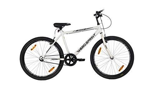 Hero Sprint Men's Frame 18 Inches Santiago 26T SS Hybrid City Bike,...