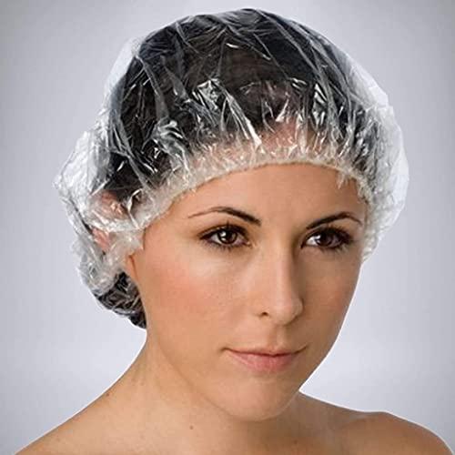 100 Pezzi Cuffie da doccia trasparenti | Beyond Dreams® Cuffie per capelli trasparenti e monouso per bagno e SPA | Uso personale e professionale |