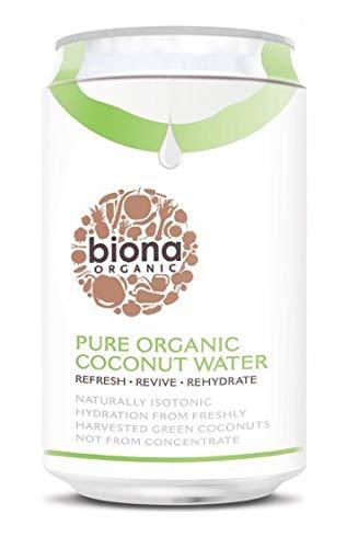 Biona Bebida De Agua De Coco Ecológica, Nutritiva E Isotónica - Vegano, Vegetariano, Paleo - Paquete 12 X 330 Ml