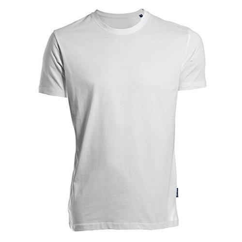 HRM Herren Luxury Round M T-Shirt, Weiß (White 02-White), Medium