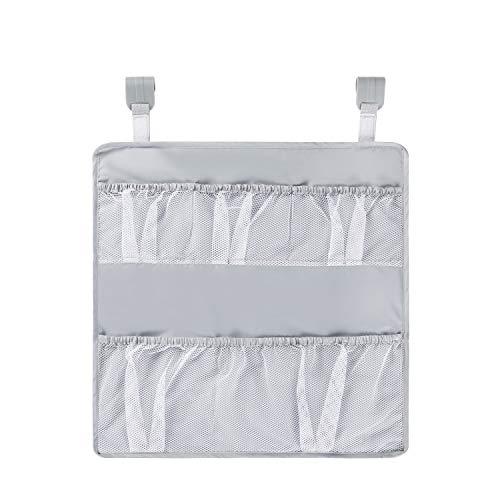 Hauck Organizador universal Hang Me para cunas de viaje con mucho espacio de almacenamiento, fácil fijación, plegable, colgante, gris (618639)